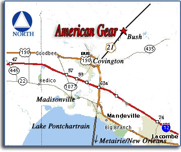 Map to American Gear